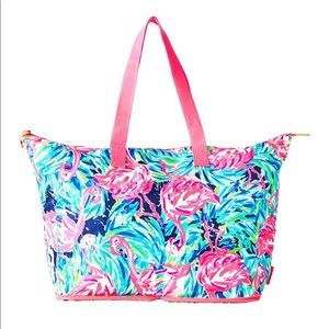Lilly Pulitzer getaway packable tote flamenco
